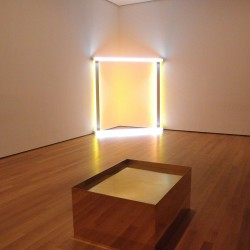 Donald Judd i Dan Flavin w Museum of Modern Art