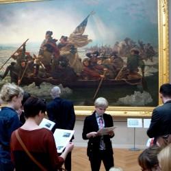 Referat o obrazie 'Washington Crossing the Delaware' (1851) Emanuela Leutze w Metropolitan Museum of Art