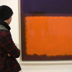"""Mark Rothko, """"No. 18 (Black, Orange on Maroon)"""" (1963), Deutsche Guggenheim, wystawa """"Color Fields"""""""